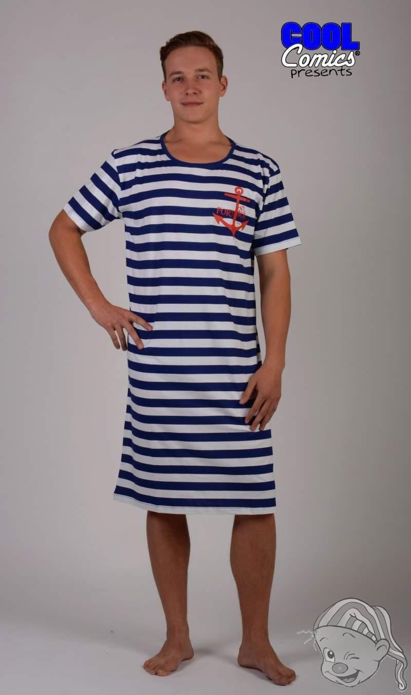 ca4a3935af9 Pánská noční košile s krátkým rukávem KOTVA L modrá