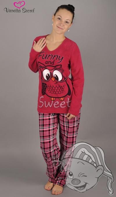 7ea71a555e20 Dámské pyžamo dlouhé SOVA S BRÝLEMI