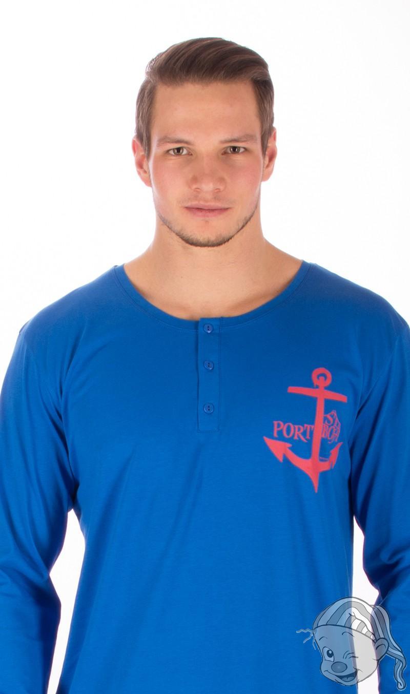 ef8af388909 Pánská noční košile s dlouhým rukávem Kotva M modrá