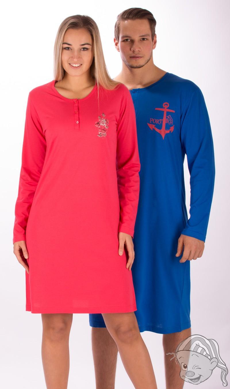 63c6f97fa0c Pánská noční košile s dlouhým rukávem Kotva L tmavě modrá