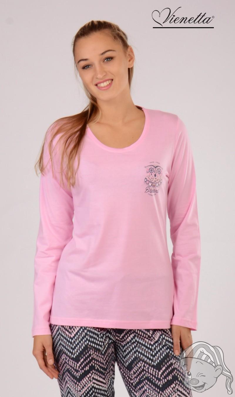 5c31115a0291 Dámské pyžamo dlouhé Malá Sova M růžová