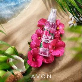 Avon Naturals Hula Hula Hibiscus tělový sprej 100 ml