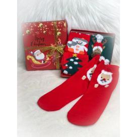 Dětské vánoční ponožky 4ks