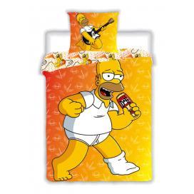 Jerry Fabrics Povlečení Simpsons Family 2015 bavlna 140x200, 70x90 cm
