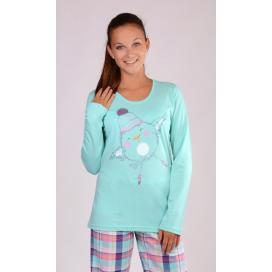 Dámské pyžamo dlouhé Kuře s čepicí