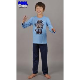 Dětské pyžamo dlouhé Robot