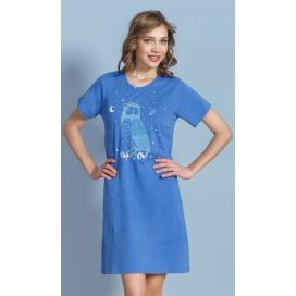 Dámská noční košile s krátkým rukávem Sova Pálená