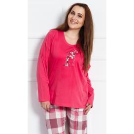 Dámské pyžamo dlouhé Medvěd s čepicí