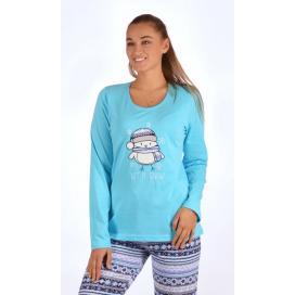 Dámské pyžamo dlouhé Kuře se šálou