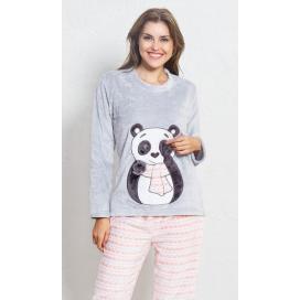 Dámské pyžamo dlouhé Panda se šálou