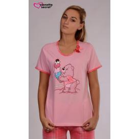 Dámské pyžamo kapri Medvěd se zmrzlinou