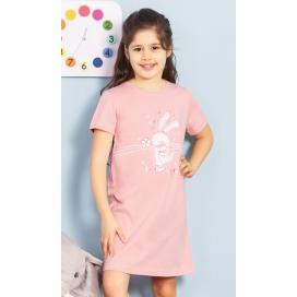 Dětská noční košile s krátkým rukávem Zajíc