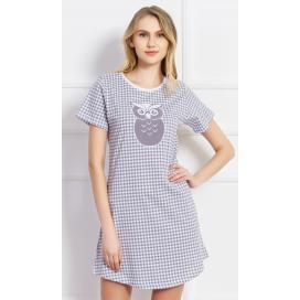 Dámská noční košile s krátkým rukávem Sovička