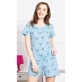 Dámské pyžamo šortky Ježci