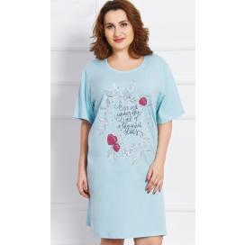 Dámská noční košile s krátkým rukávem Jahody