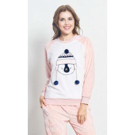 Dámské pyžamo dlouhé Tučňák s kulichem