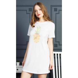 Dámská noční košile s krátkým rukávem Ananas