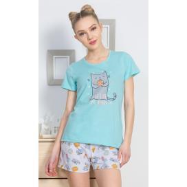 Dámské pyžamo šortky Mlsná kočka