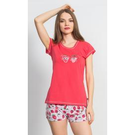 Dámské pyžamo šortky Jahody