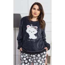 Dámské pyžamo dlouhé Kotě s mašlí