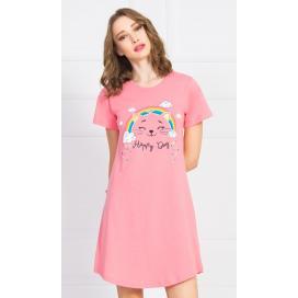 Dámská noční košile s krátkým rukávem Happy day