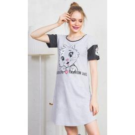 Dámská noční košile s krátkým rukávem Fashion
