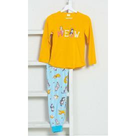 Dětské pyžamo dlouhé Kočka Meow