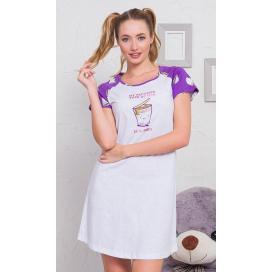 Dámská noční košile s krátkým rukávem Erika