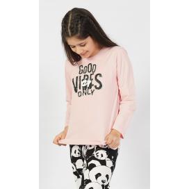 Dětské pyžamo dlouhé Good vibes only