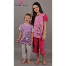 Dětské pyžamo kapri Méďa v šatech