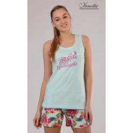 Dámské pyžamo šortky na ramínka Aloha