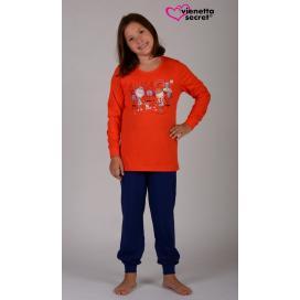 Dětské pyžamo dlouhé Dívky ve městě