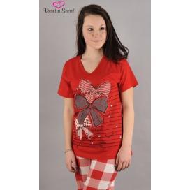 Dámské pyžamo kapri Velká mašle