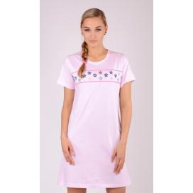 Dámská noční košile s krátkým rukávem Hvězdičky