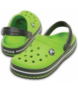 CROCS Crocband Kids - barva Volt Green/Graphite