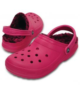 CROCS Classic Lined Pattern Clog barva Candy Pink/Berry