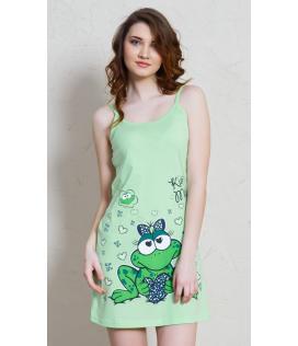 Dámská noční košile na ramínka Žába