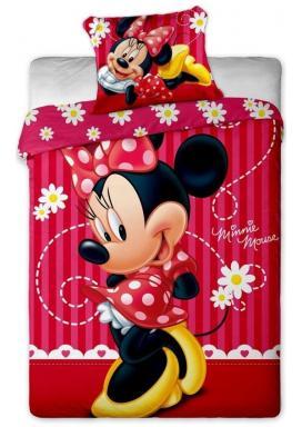 Jerry Fabrics Povlečení Minnie stripe 2015 bavlna 140x200, 70x90 cm