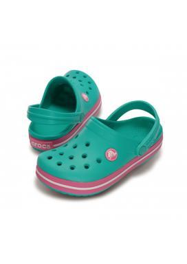 Crocband Kids - barva Island Green/Pink Lemonade