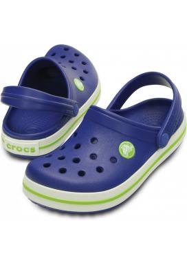 CROCS Crocband Kids - barva Cerulean Blue/Volt Green