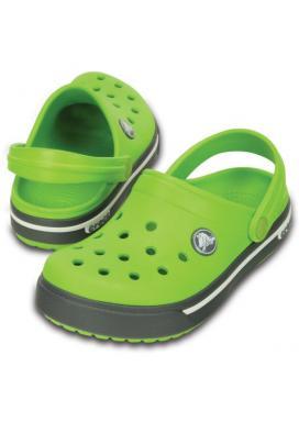 CROCS Crocband II.5 Clog Kids - barva Volt Green/Charcoal