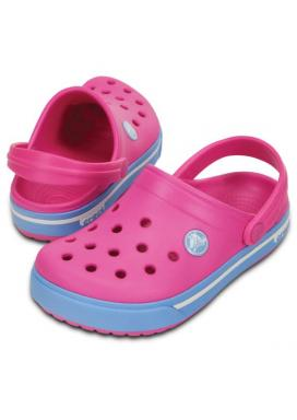 CROCS Crocband II.5 Clog Kids - barva Neon Magenta/Bluebell
