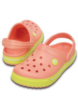 CROCS Crocband II.5 Clog Kids - barva Melon/Chartreuse
