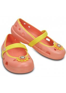 Keeley Petal Charm Flat - barva Melon/Sunshine