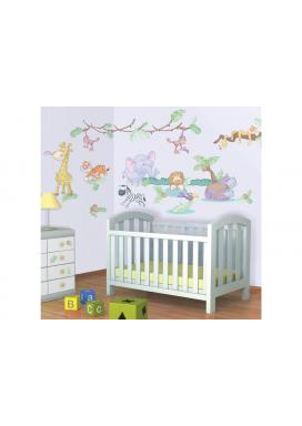 Samolepky Walltastic Dekorace Baby Džungle (34 cm x 46 cm)