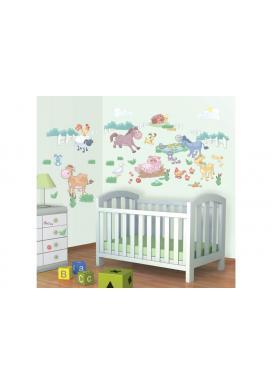 Samolepky Walltastic Dekorace Baby Farma (34 cm x 46 cm)