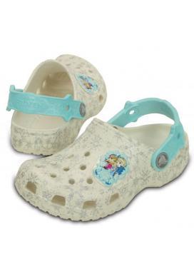 CROCS Classic Frozen Clog Kids - barva Oyster