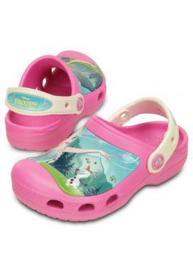 CROCS CC FrozenFever Clog Kids - barva Party Pink/Oyster
