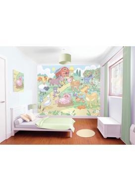 Walltastic 3D Tapeta Baby Farma  (2438 mm x 3048 mm)