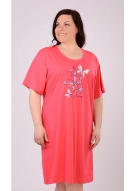Dámská noční košile s krátkým rukávem Velcí motýli